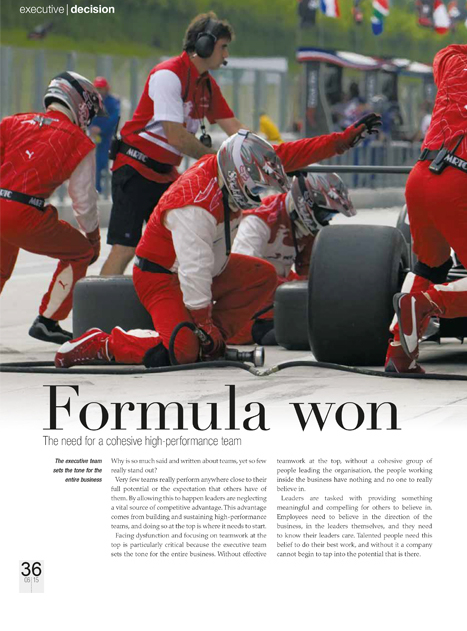 Skyways Article - Formula Won