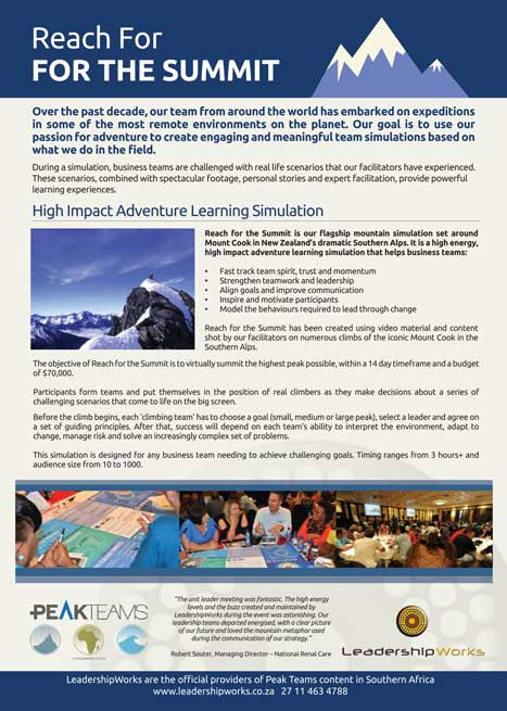 Reach-for-the-Summit.-Overview
