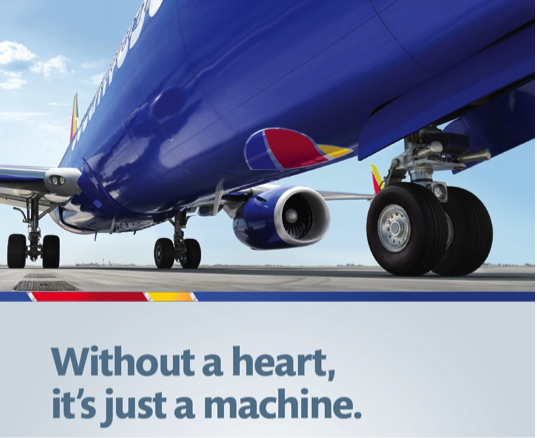 South West Airlines Heart